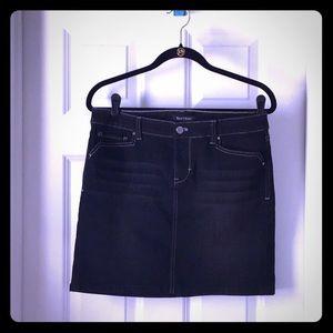 WHBM Black Jeans Skirt